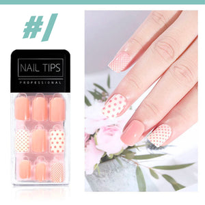 No Glue Stick-On Nail Beauty & Health summertwinkle #01