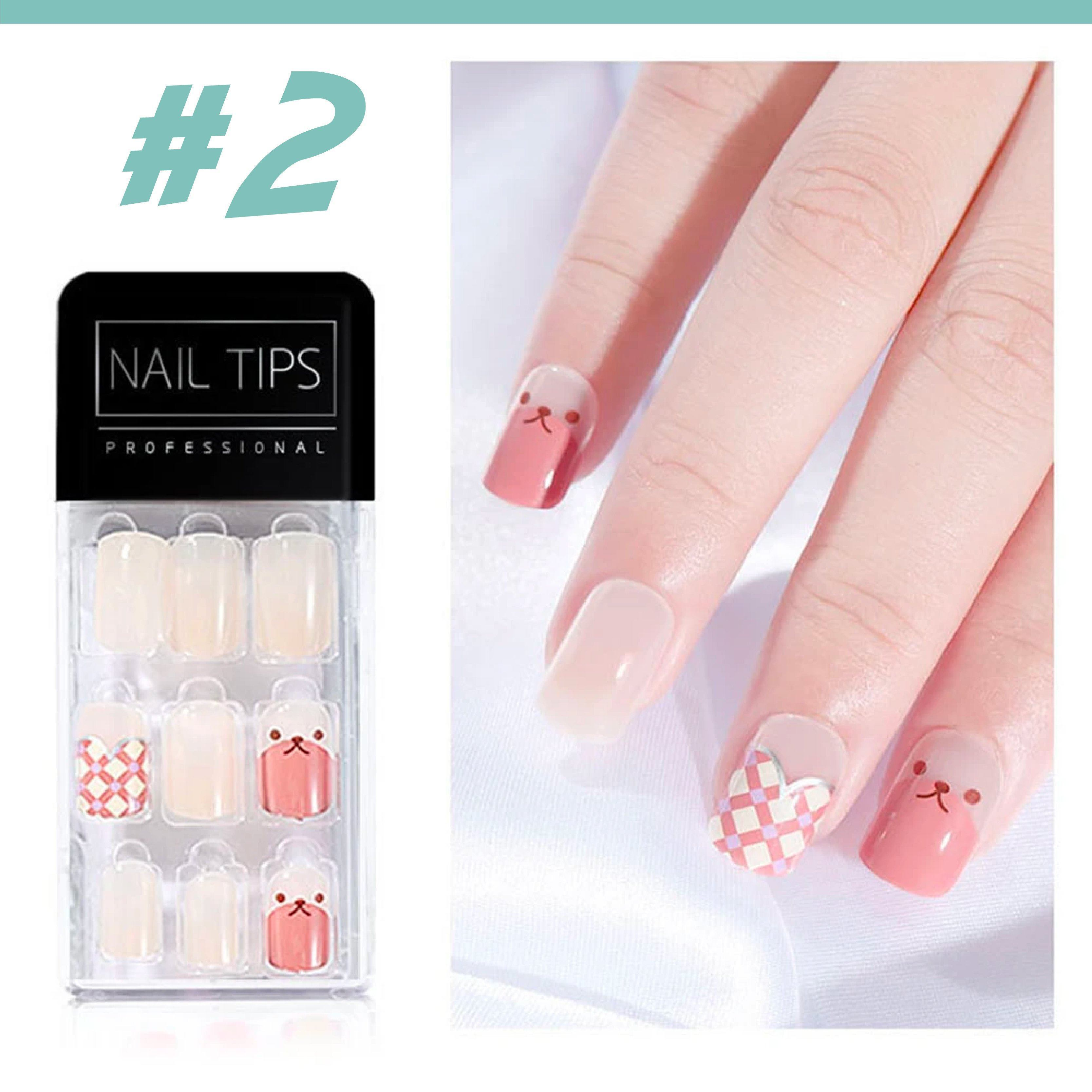 No Glue Stick-On Nail Beauty & Health summertwinkle #02