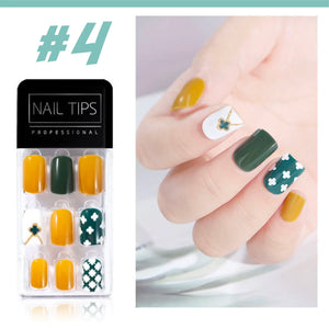 No Glue Stick-On Nail Beauty & Health summertwinkle #04