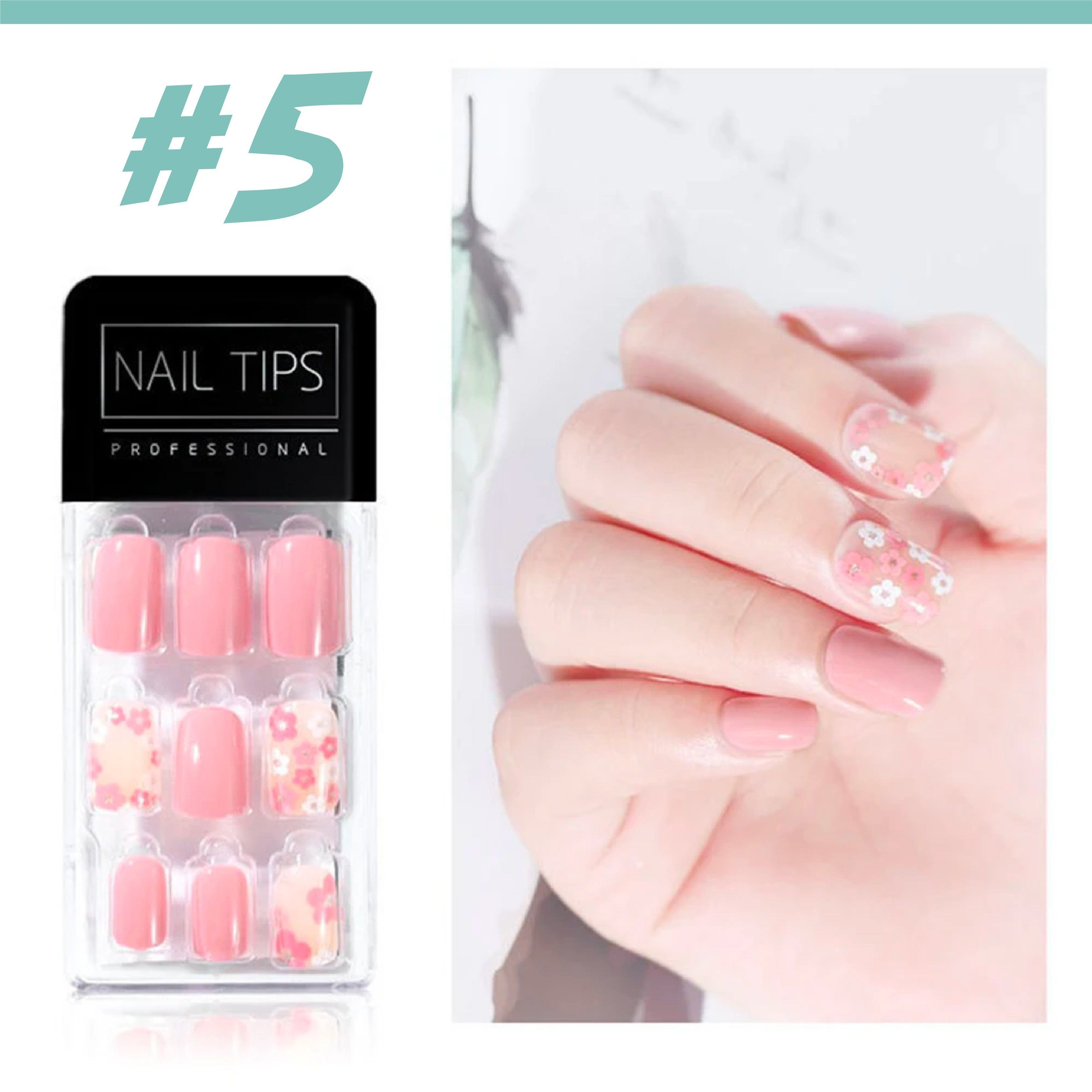 No Glue Stick-On Nail Beauty & Health summertwinkle #05