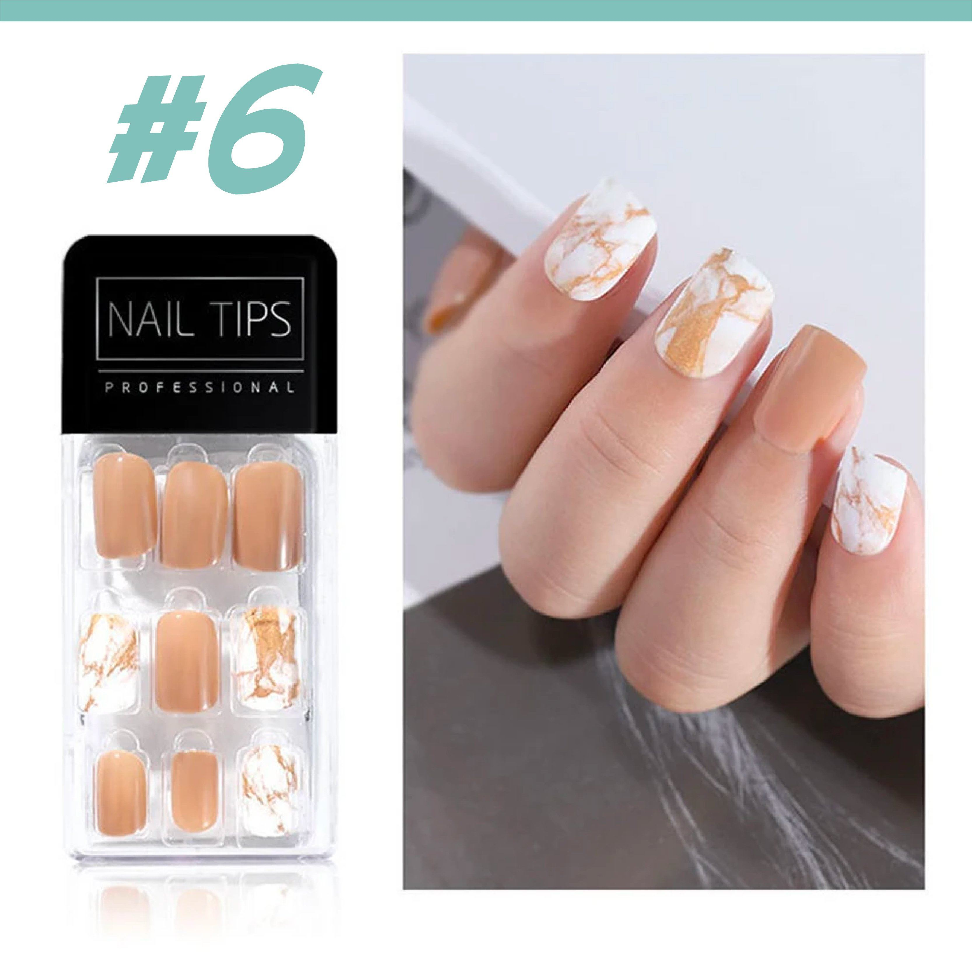 No Glue Stick-On Nail Beauty & Health summertwinkle #06