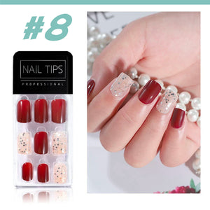 No Glue Stick-On Nail Beauty & Health summertwinkle #08