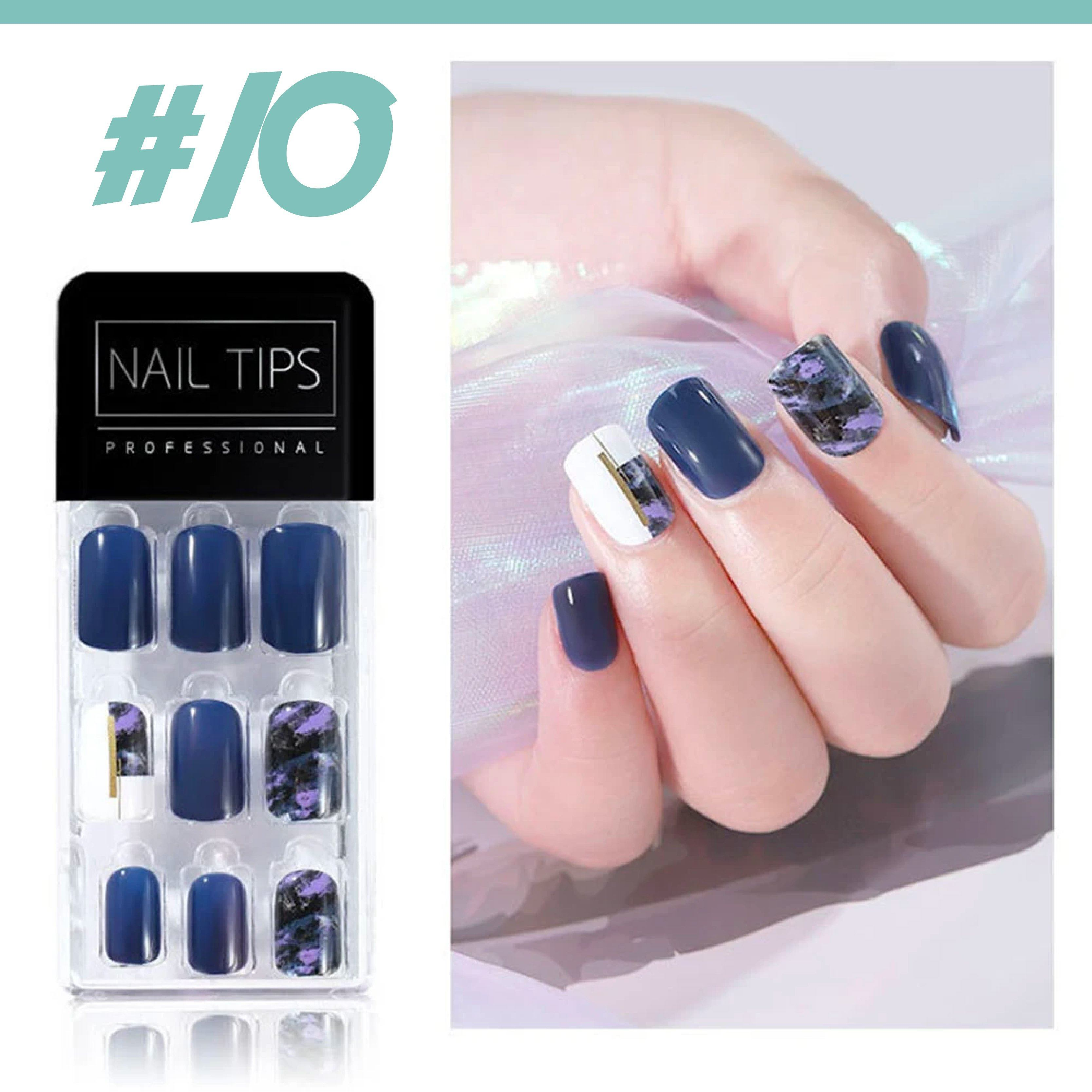 No Glue Stick-On Nail Beauty & Health summertwinkle #010