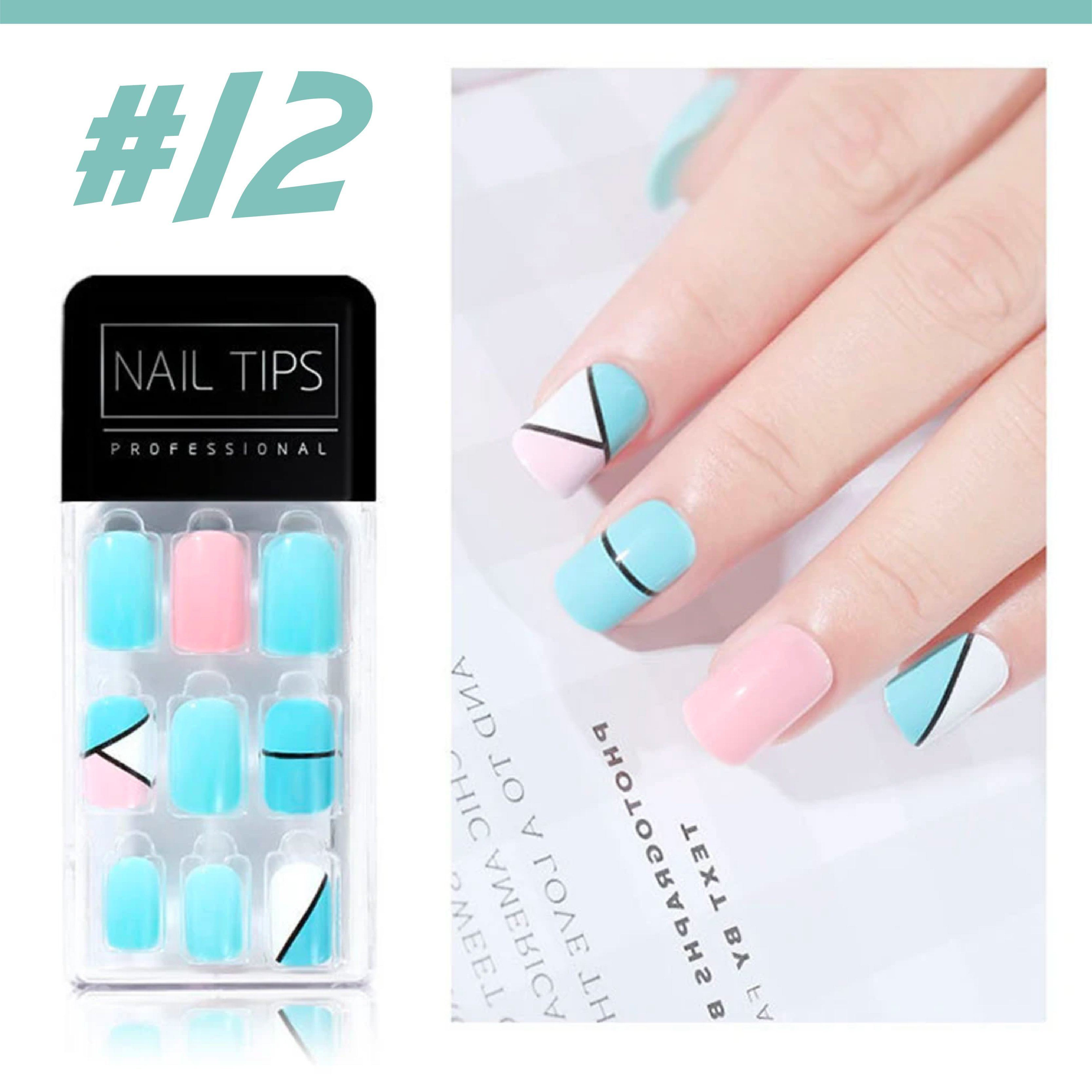 No Glue Stick-On Nail Beauty & Health summertwinkle #012