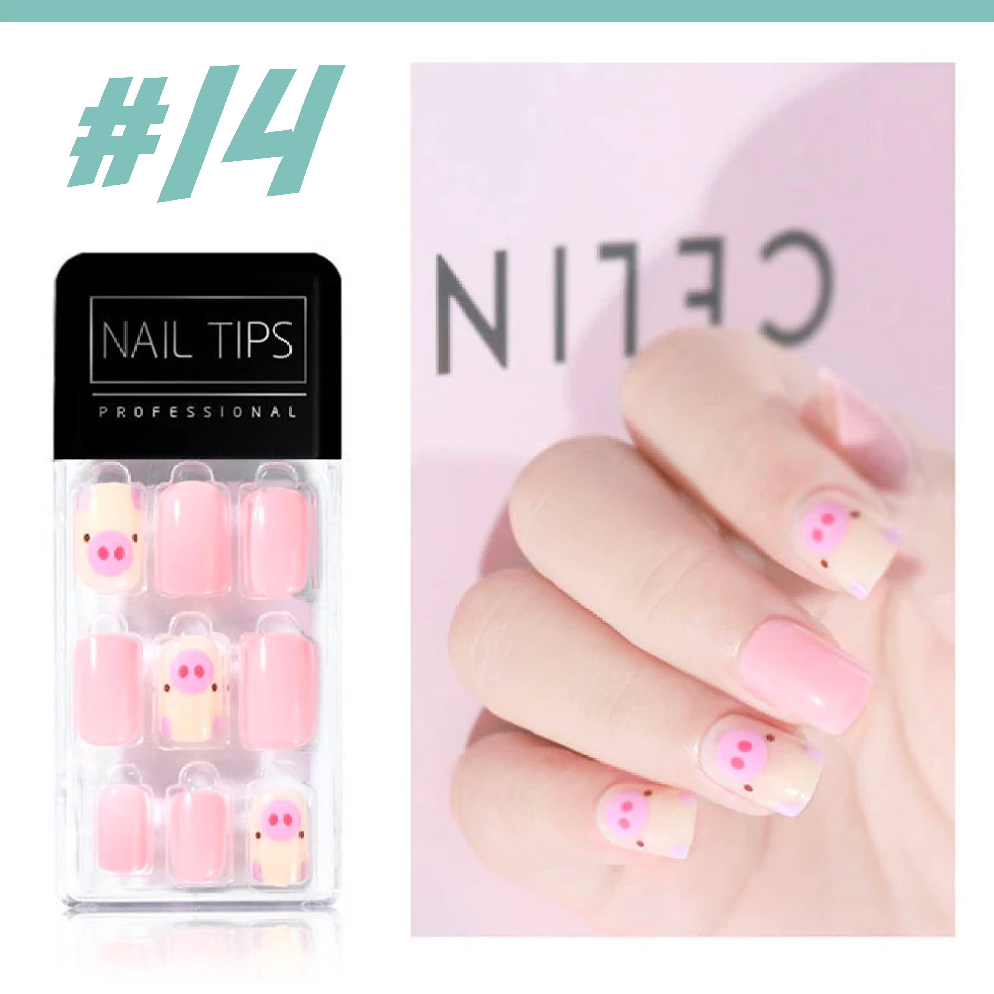 No Glue Stick-On Nail Beauty & Health summertwinkle #014