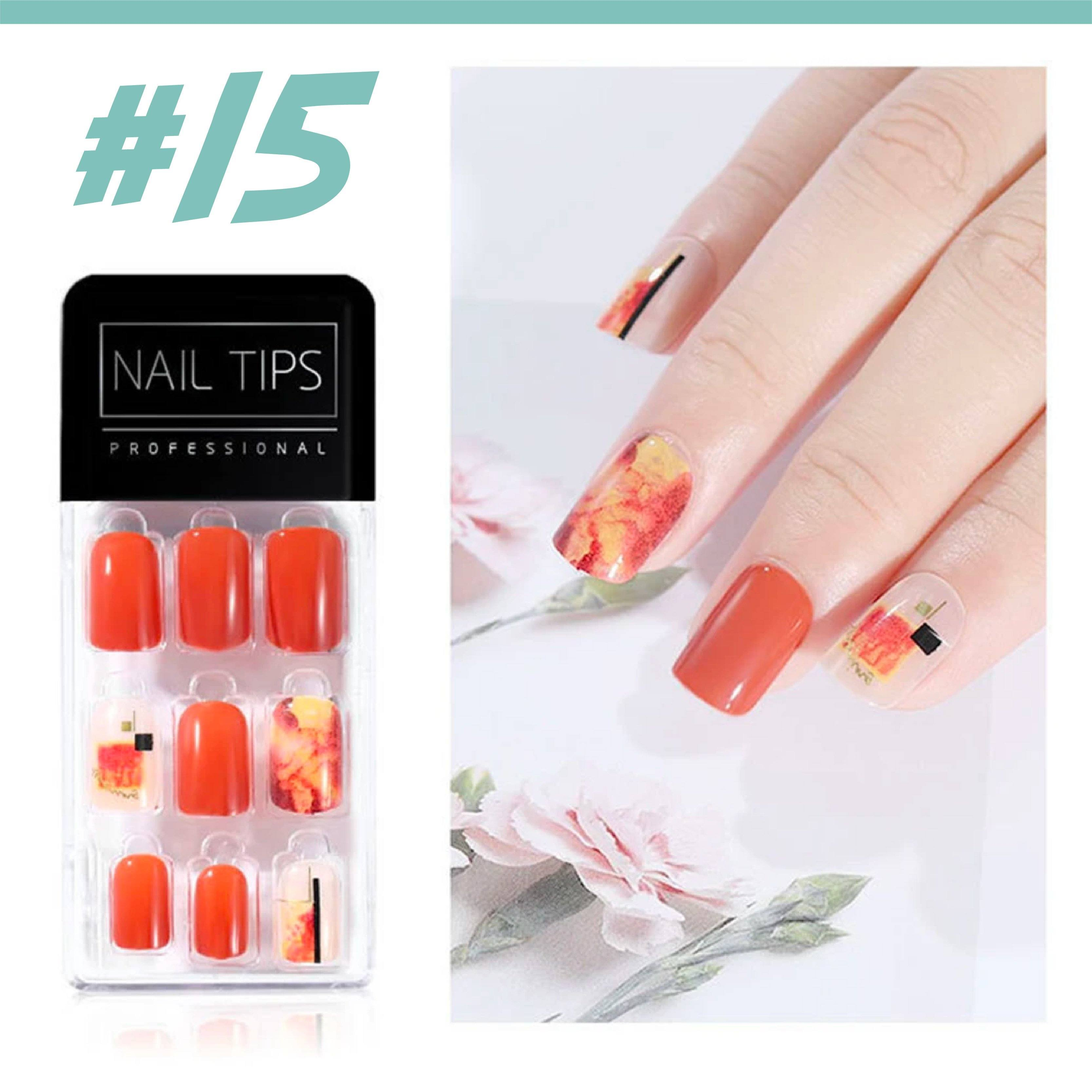 No Glue Stick-On Nail Beauty & Health summertwinkle #015