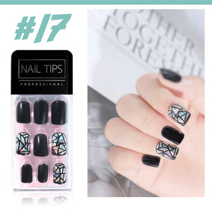 No Glue Stick-On Nail Beauty & Health summertwinkle #017