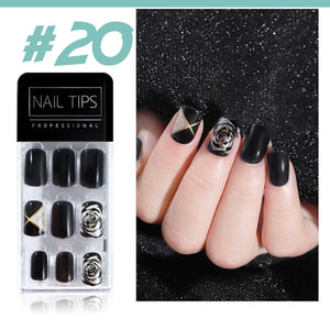 No Glue Stick-On Nail Beauty & Health summertwinkle #020