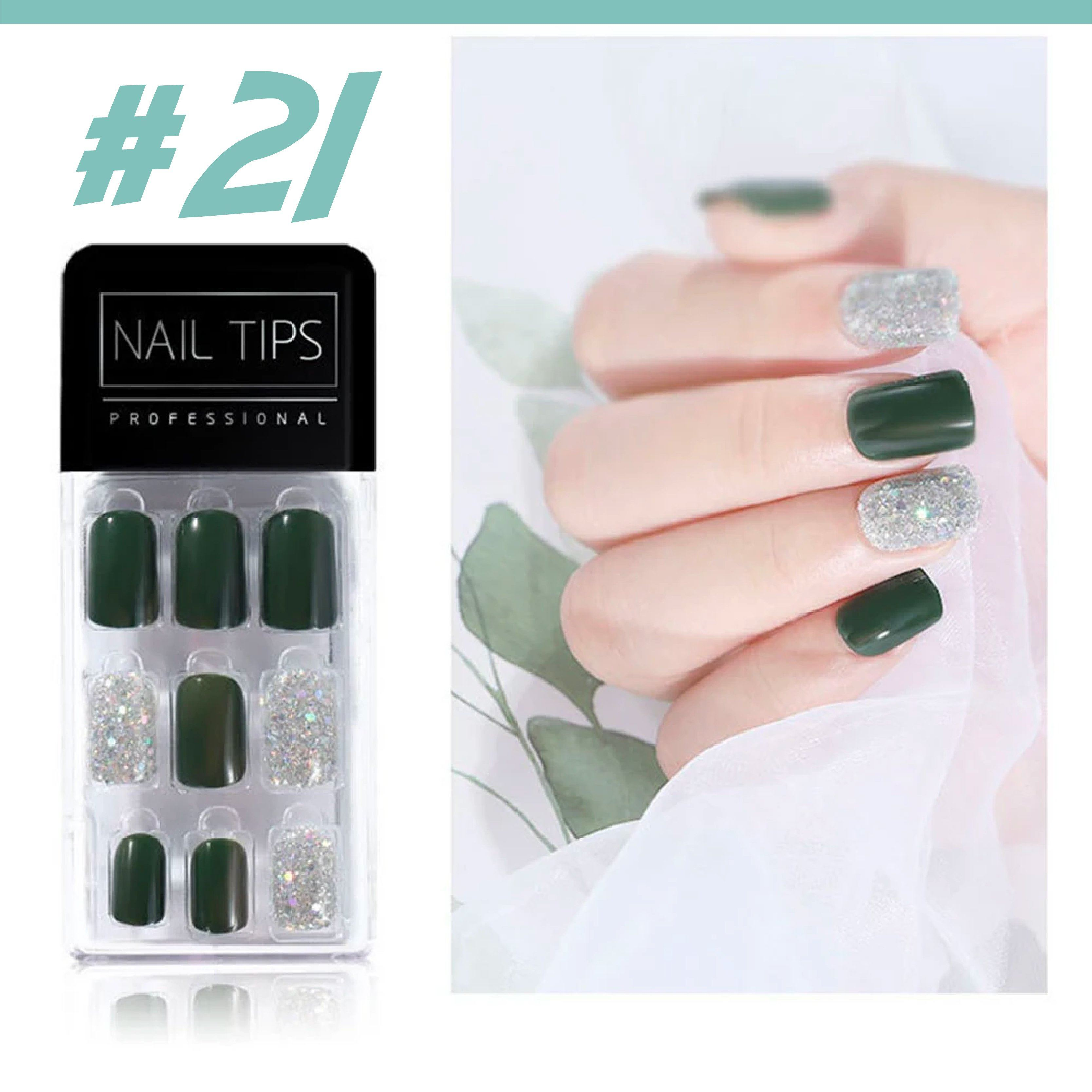 No Glue Stick-On Nail Beauty & Health summertwinkle #021