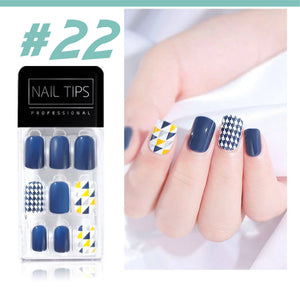 No Glue Stick-On Nail Beauty & Health summertwinkle #022