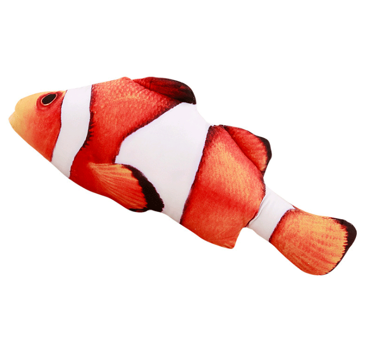 Cat Cuddly Fish Toy Pet summertwinkle Clownfish