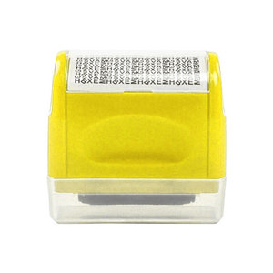 Privacy Protection Roller Stamp summertwinkle yellow