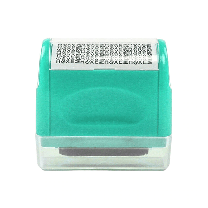 Privacy Protection Roller Stamp summertwinkle green