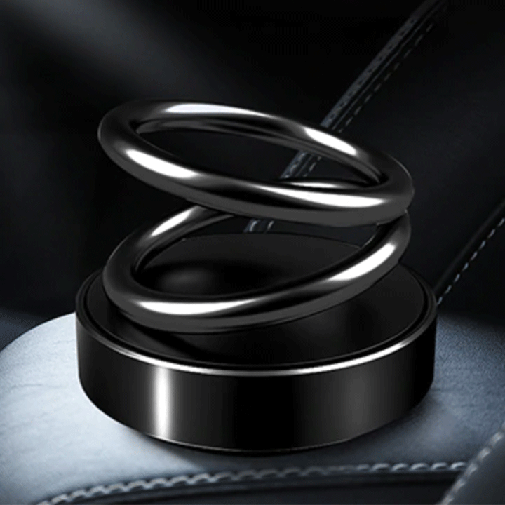 Solar Power Rotating Ring Scent Diffuser summertwinkle Metal Black