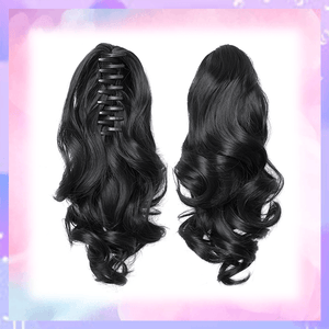 Clip-in Wavy Ponytail summertwinkle black