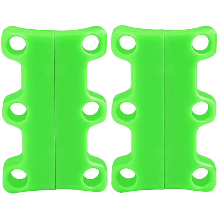 Magnetic Shoelace Buckles (Pack of 2 pairs) summertwinkle green