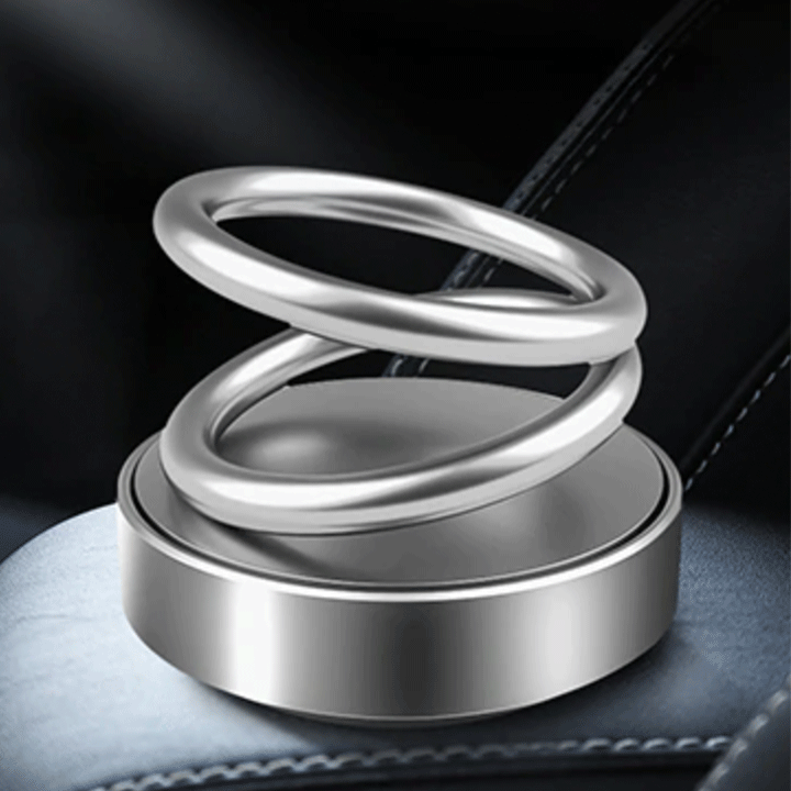 Solar Power Rotating Ring Scent Diffuser summertwinkle Metal Silver