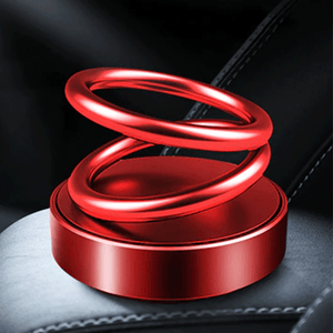 Solar Power Rotating Ring Scent Diffuser summertwinkle ABS Red