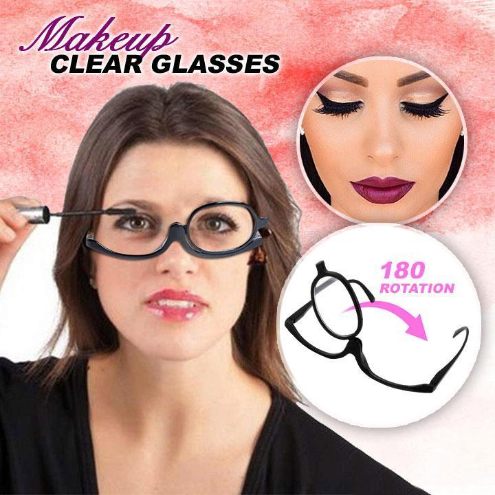Rotation Makeup Clear Glasses summertwinkle Black 150+