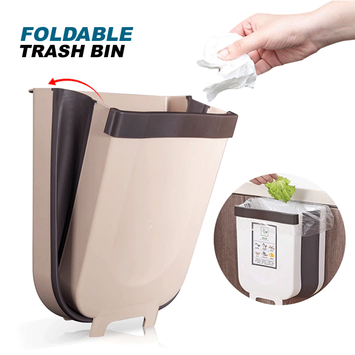 Foldable Trash Bin summertwinkle Brown