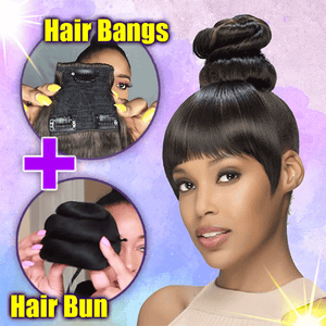 Hair Bun and Bangs Set summertwinkle