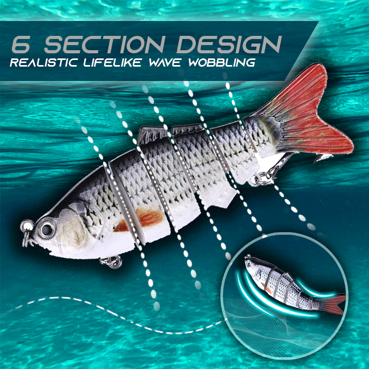 6 Section Realistic Fishing Bait Gadgets summertwinkle