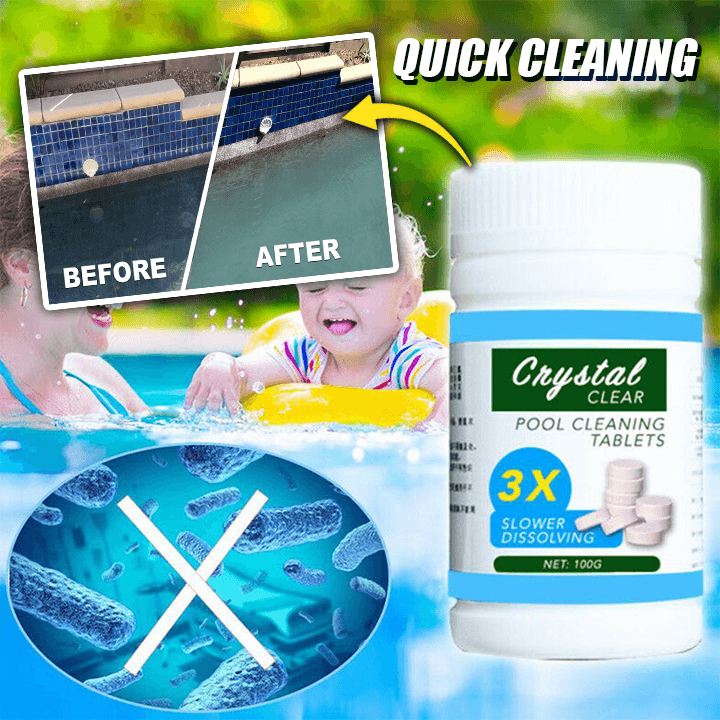 Super Pool Cleaning Tablet (100 tablets) summertwinkle
