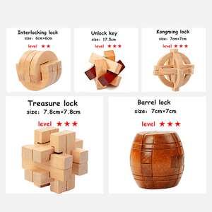 3D Wooden Puzzle Lock summertwinkle