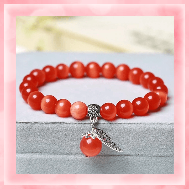 Tiger's Eye Bracelet summertwinkle red