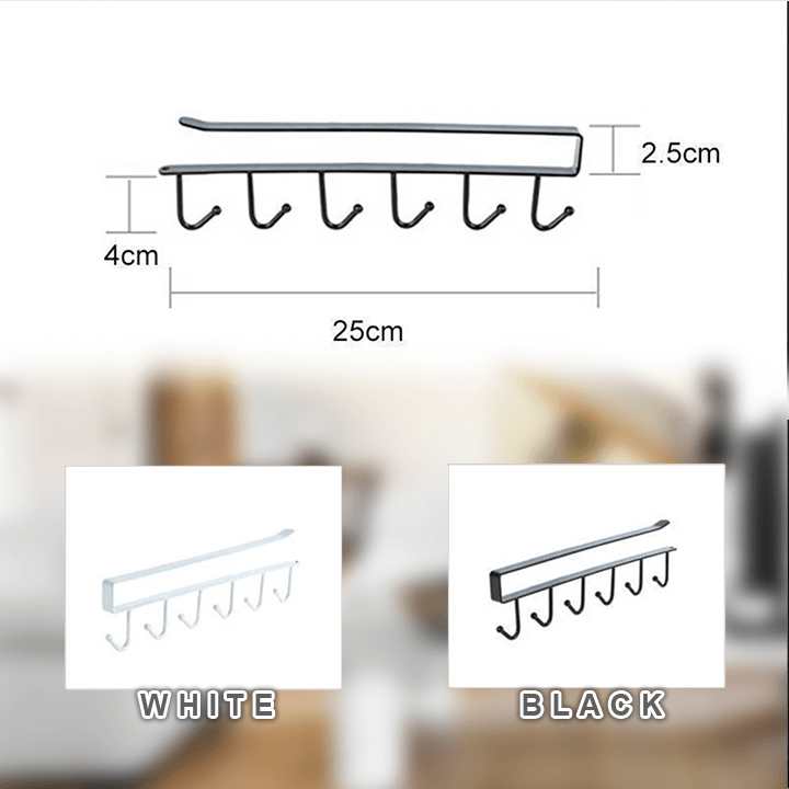 Under-Cabinet Hanger Rack summertwinkle