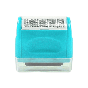 Privacy Protection Roller Stamp summertwinkle blue