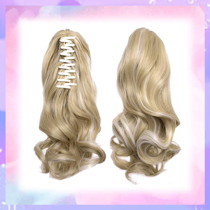 Clip-in Wavy Ponytail summertwinkle blonde highlight