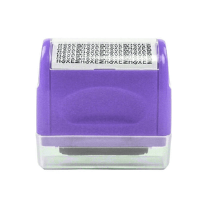 Privacy Protection Roller Stamp summertwinkle purple
