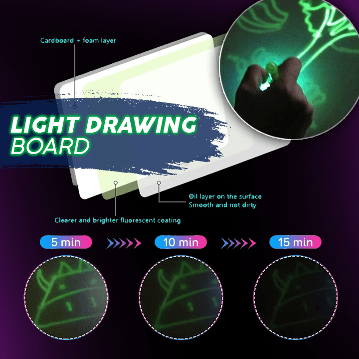 Magic Light Drawing Board Set