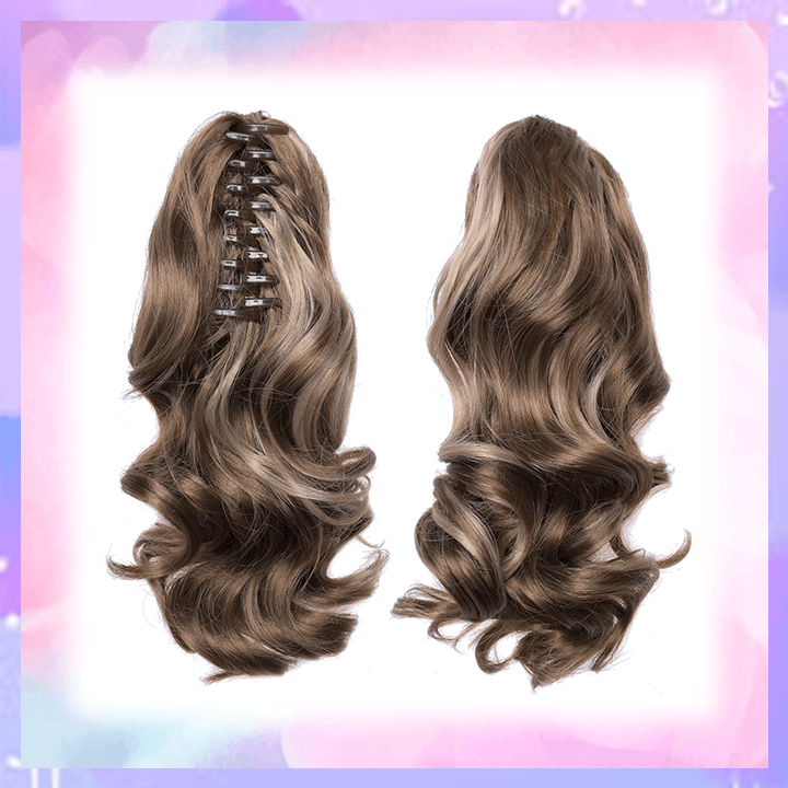 Clip-in Wavy Ponytail summertwinkle light brown highlight