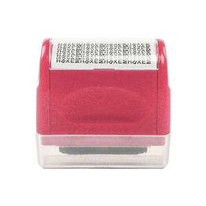 Privacy Protection Roller Stamp summertwinkle pink