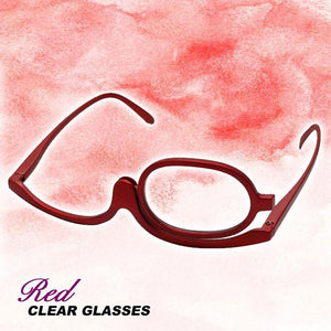 Rotation Makeup Clear Glasses summertwinkle Red 150+