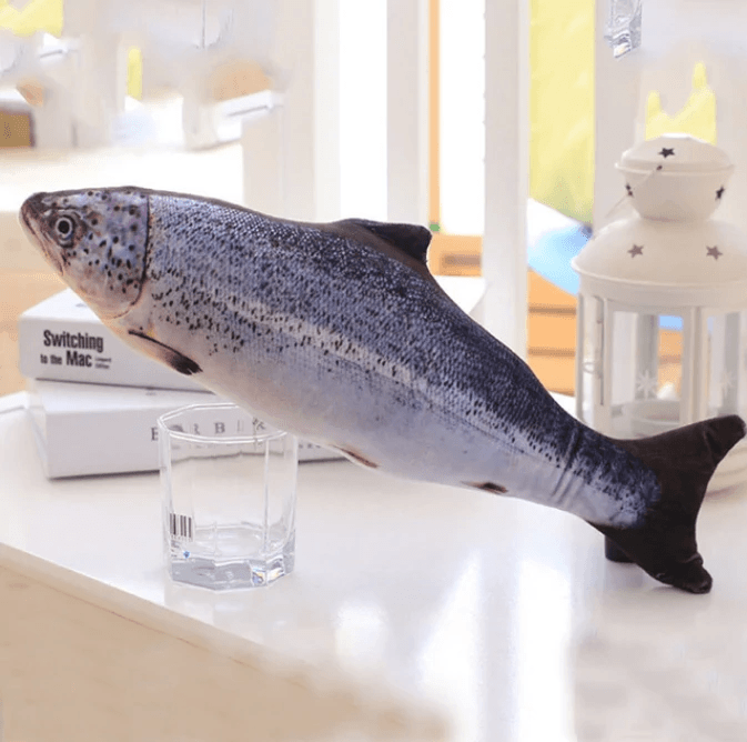 Cat Cuddly Fish Toy Pet summertwinkle Salmon