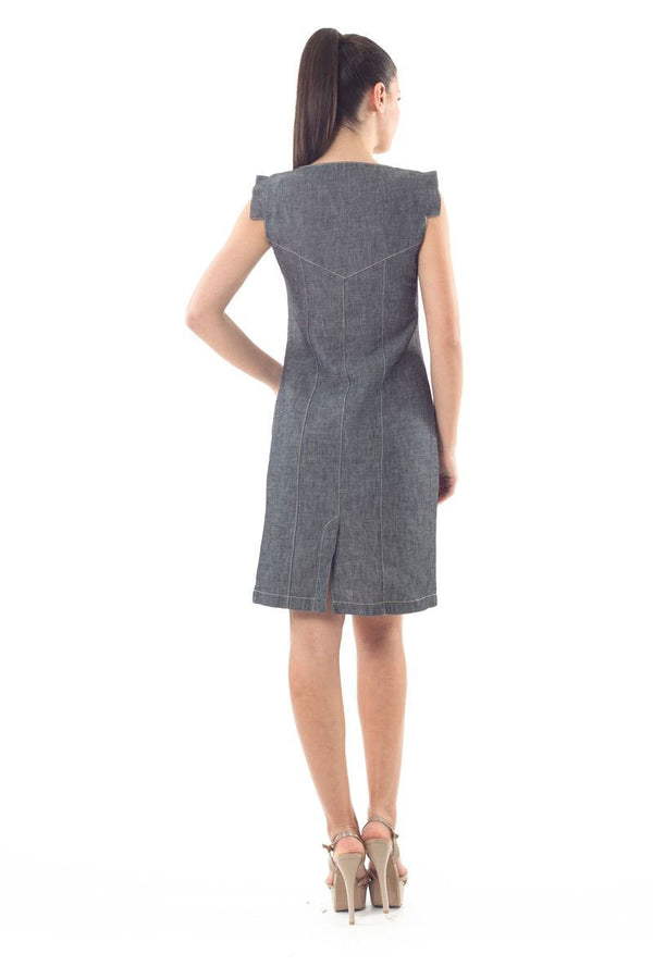 Denim Look Shift Dress