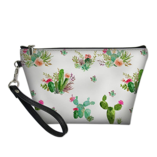 Cactus Flowers Makeup Bag In Multiple Colors