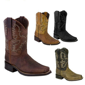 Artificial Leather Knee-High Boots in Four Colors