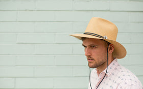 Toquilla Straw Wide Brim Fedora in Natural Color