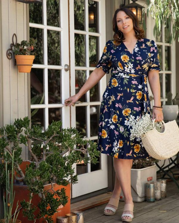 Tuscan Tie Wrap Dress