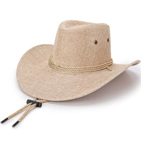 Linen Western Hat in Four Color Combinations
