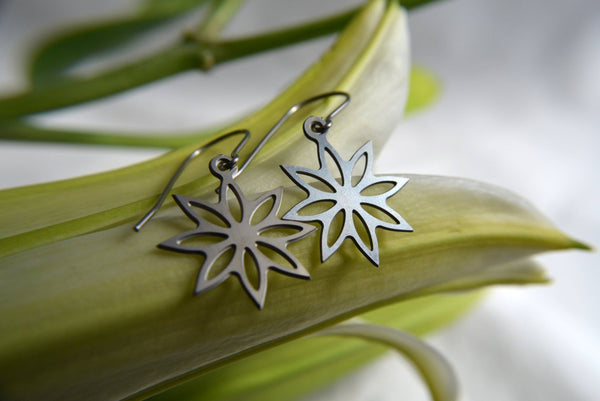 Lotus Blossom Earrings in stainless steel