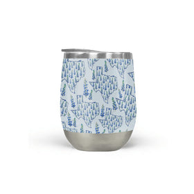 Texas Blue Bonnet Wine Tumbler