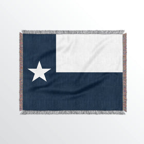 Texas State Woven Cotton Blanket
