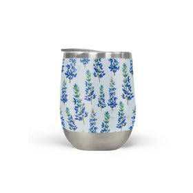 Blue Bonnet Wine Tumbler