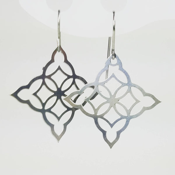 Moorish Diamond Earrings in stainless steel
