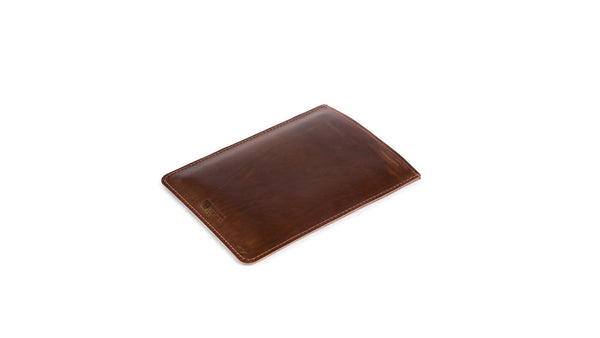 Handcrafted in Texas Leather MacBook Sleeve Vertical